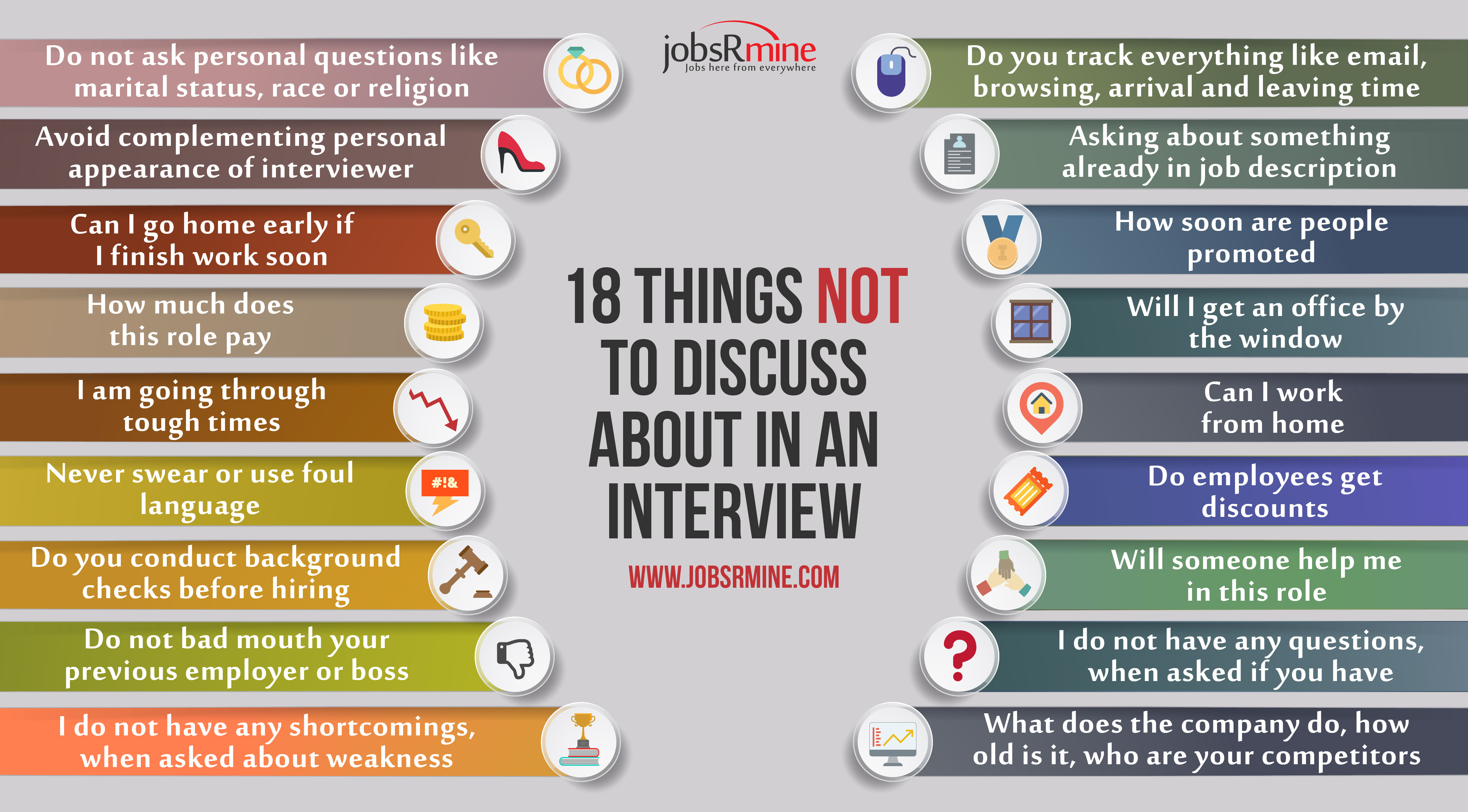 Download Questions to avoid in interview for free, by clicking download button