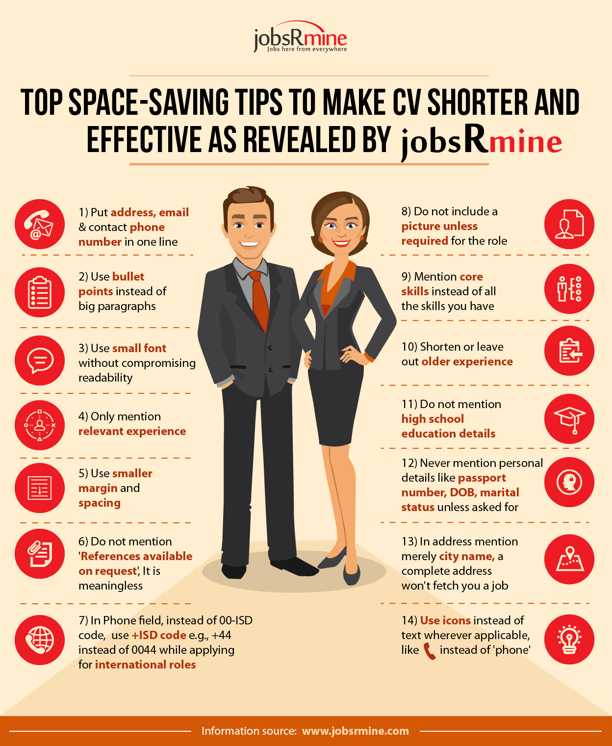Download Tips to make CV shorter for free, by clicking download button
